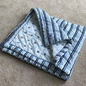 Reversible Baby Blanket Stripes / Stars